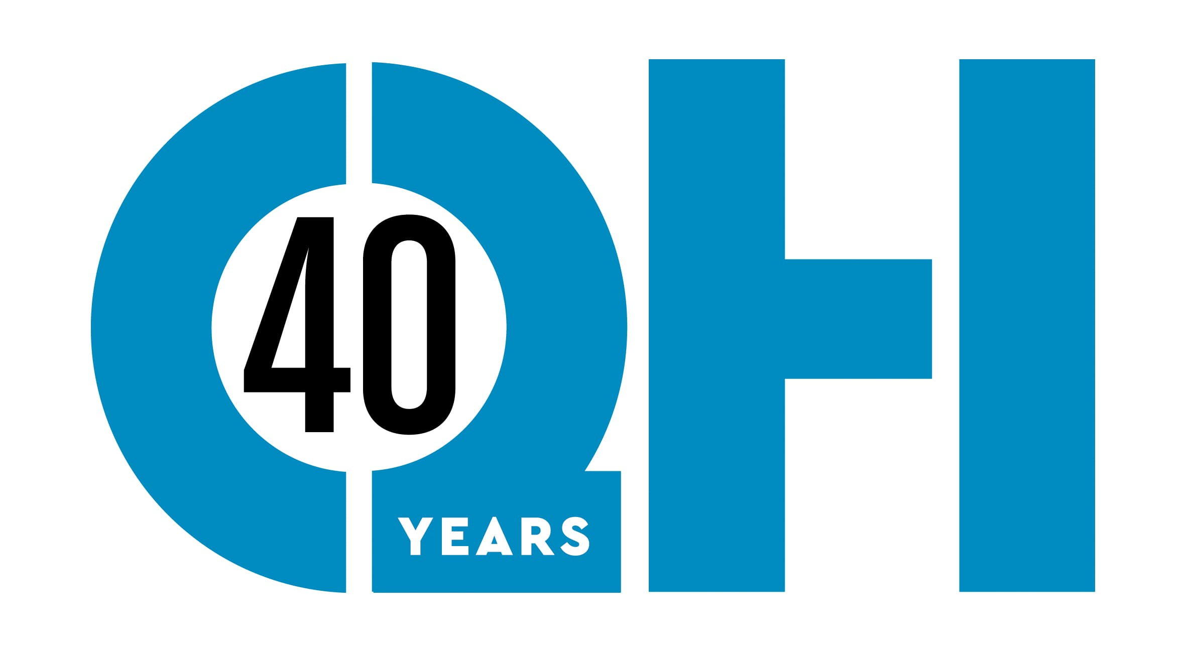 The Queen's Hall 40th anniversary logo