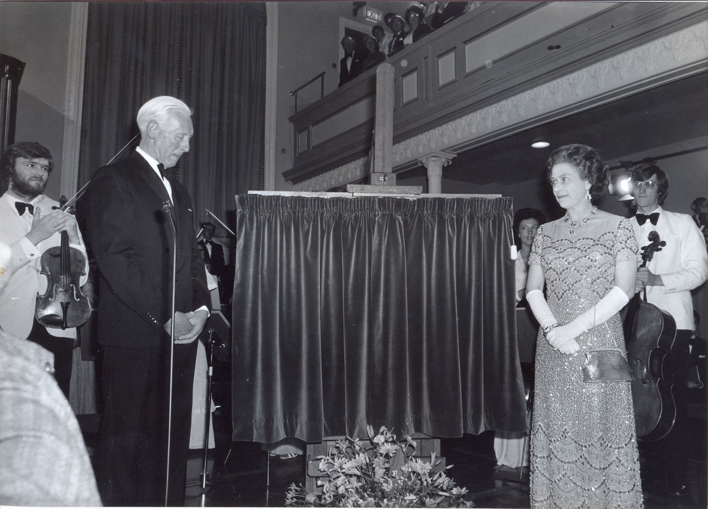 HM Queen Elizabeth II unveils The Queen's Hall plaque