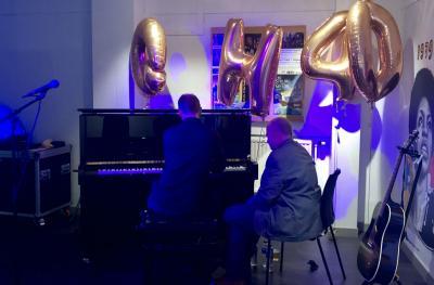 Brian Kellock and Steven Osborne enjoy a jam session