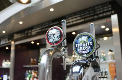 We have Williams Brothers and Thistly Cross on tap