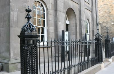 The Queen's Hall renovated railings August 2018